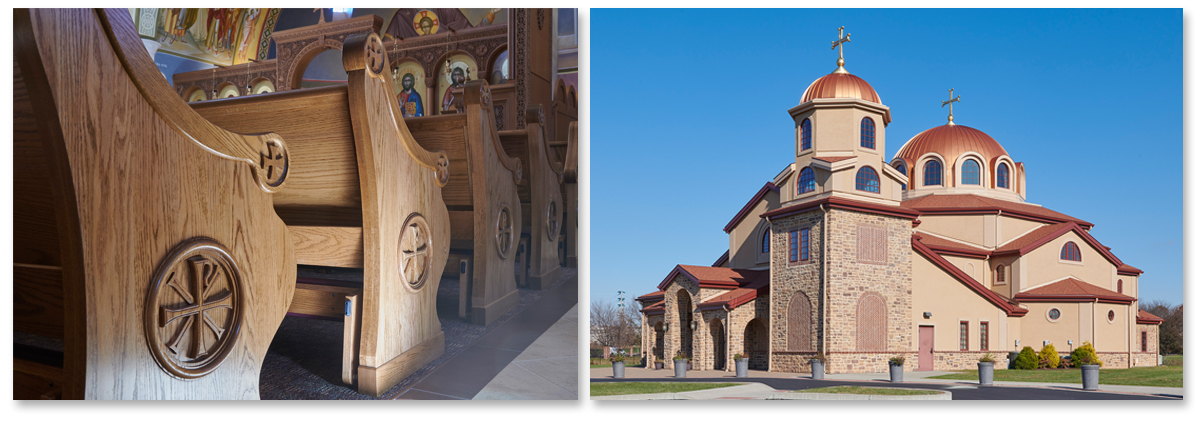 St. Sophia Greek Orthodox Church, Horst Construction, New Holland Church Furniture, Religious Furniture, Pews, Valley Forge