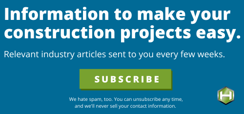 subscribe to construction newsletter