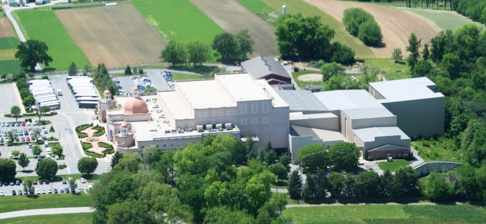 aerial view of sight and sound theatre