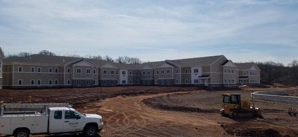 Providence Place Senior Living Collegeville in construction