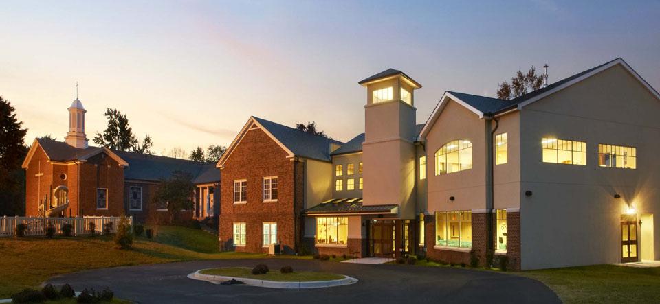 exterior nichols-bethel united methodist church at sunrise