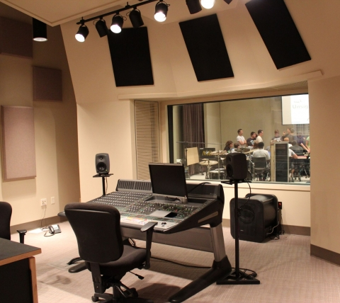 recording studio at Millersville University
