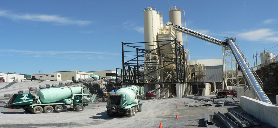 concrete batch plant exterior
