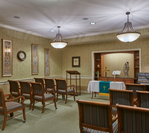 chapel/theatre at a retirement community