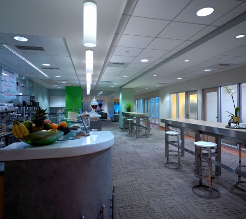 catering area in corporate office building