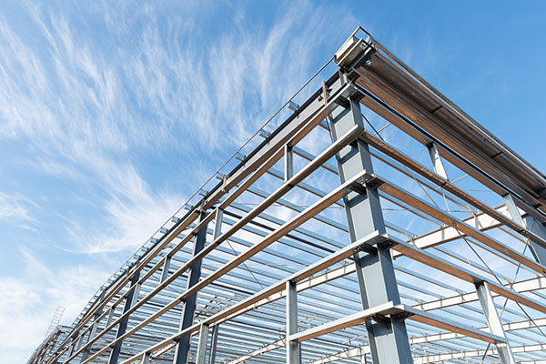 steel building frame